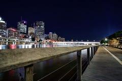 布里斯班市看法从Southbank,布里斯班的 免版税库存照片