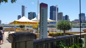 Southbank Brisbane rzeki miasto Obraz Stock