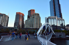 Southbank Foot Bridge - Melbourne Stock Photo