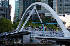 Southbank Foot Bridge - Melbourne Royalty Free Stock Images