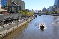 Southbank Melbourne and Yarra river Royalty Free Stock Images