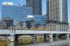 Southbank skyline and Yarra River, Melbourne, Australia Royalty Free Stock Photography