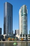 Southbank skyline and Yarra River, Melbourne, Australia Royalty Free Stock Photo