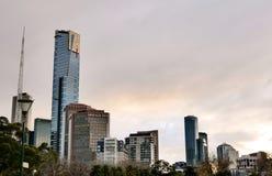 Southbank sunset. Warm sunset at Southbank, Melbourne Stock Photo
