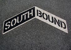 Southbound sign Royalty Free Stock Images