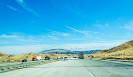 Southbound traffic in Interstate 5 Stock Photo
