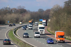Southbound traffic on M6 motorway passing Scorton Royalty Free Stock Photo