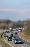 Southbound traffic on M6 motorway passing Scorton Royalty Free Stock Image