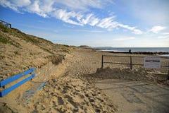 Southbourne, Bournemouth, Dorset, Angleterre, novembre 2017, vue d'A de la plage Image libre de droits