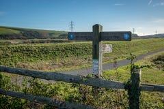 SOUTHEASE, ВОСТОЧНОЕ SUSSEX/UK - 4-ОЕ ДЕКАБРЯ: Взгляд южных спусков стоковые изображения rf