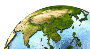 Southeast Asia on Earth Stock Images