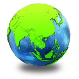 Southeast Asia on green Earth Royalty Free Stock Image