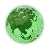 Southeast Asia on green planet Earth Royalty Free Stock Photos