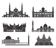 Southeast Asia. Isolated Asian buildings on white background. Vector Illustration. illustration EPS Royalty Free Stock Images