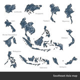 Southeast Asia map stock illustration