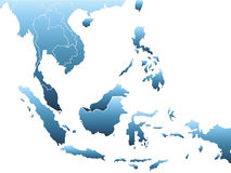 Southeast asia map Royalty Free Stock Image