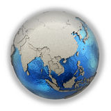 Southeast Asia on model of planet Earth Stock Photography