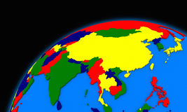 Southeast Asia on planet Earth political map Royalty Free Stock Image