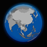 Southeast Asia on political Earth Royalty Free Stock Image