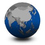 Southeast Asia on political globe illustration Royalty Free Stock Photo