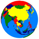 Southeast Asia on political map Royalty Free Stock Photography