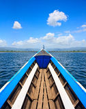 Southeast Asia Traditional Boat. The long-tail boat is a type of watercraft native to Southeast Asia Stock Photo