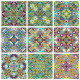 Southeast Asian Art Design. Set of modern and trendy textile pattern in vivid and bright colors, seamless Royalty Free Stock Photography