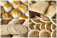 Southeast Asian Cookies and Pastry Collage Royalty Free Stock Image
