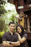 Southeast asian couple outdoor Royalty Free Stock Photography