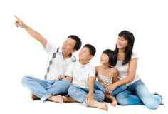 Southeast Asian family Stock Images