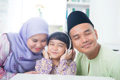Southeast Asian family Royalty Free Stock Images