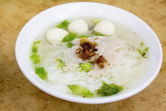 Southeast Asian Fishball Noodle Soup Royalty Free Stock Images