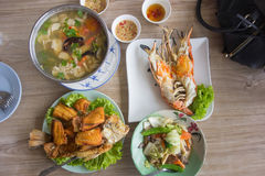 Southeast Asian food. Southeast Asian food in Ayutthaya, Thailand Stock Images