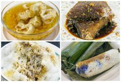 Southeast Asian Singapore Dessert and Snacks Collage Royalty Free Stock Photo