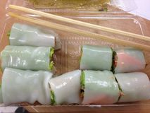 Southeast asian style summer roll Stock Photography