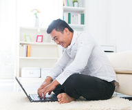 Southeast Asian surfing internet Stock Image