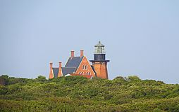 Southeast Lighthouse. Island light ocean Royalty Free Stock Photos