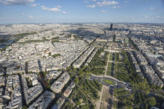 SouthEast side of Paris from Tower stock photography
