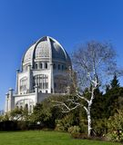 Southeast View of the Baha'i House of Worship Stock Photography