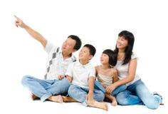 Southeastasiatfamilj Arkivbilder