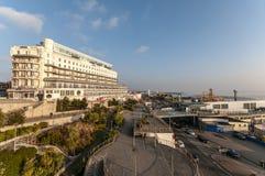 Southend,英国- 2018年1月14日:公园旅馆宫殿旅馆俯视的southend码头 免版税库存图片
