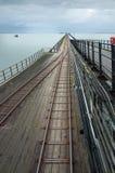 Southend στην αποβάθρα ευχαρίστησης θάλασσας, ο μακρύτερος στο theworld Στοκ Φωτογραφίες