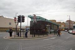 Southend 10月2017年,在海,艾塞克斯,汽车站的A视图的 库存图片