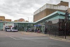 Southend 10月2017年,在海,艾塞克斯,镇` s汽车站的A视图的 免版税库存图片