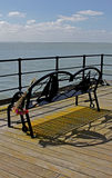 Southend Pier, Essex, looking over estuary Royalty Free Stock Photos
