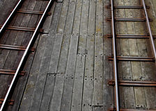 Southend Pier, Essex, pier railway line study. Texture and abstract composition Stock Photography