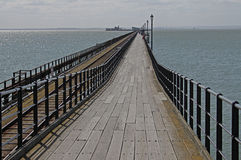 Southend Pier, Essex, pier railway . Southend Pier, Essex, pier railway.Texture and abstract composition Royalty Free Stock Photo