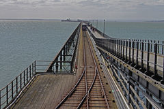 Southend Pier, Essex, pier railway . Southend Pier, Essex, pier railway.Texture and abstract composition Royalty Free Stock Photography