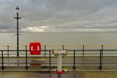Southend Pier, essex. On a cloudy, freezing cold day, england, uk Royalty Free Stock Photography