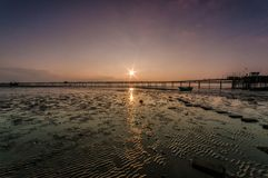 Southend pier sunset royalty free stock images